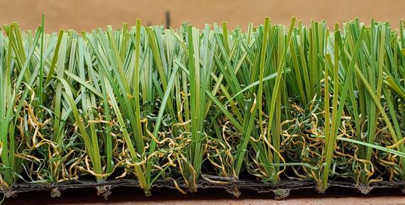 closeup of verde artificial grass tucson